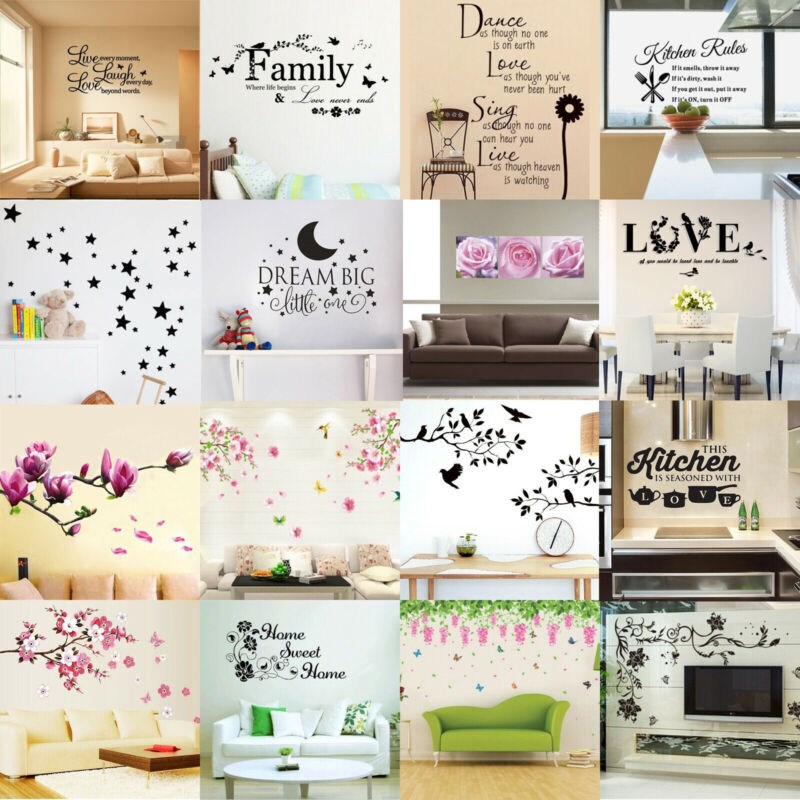Home Decoration - Vinyl Home Room Decor Art Quote Wall Decal Stickers Bedroom Removable DIY Hot