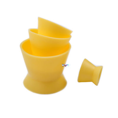 4size New Dental Lab Silicone Mixing Bowl Cup Yellow