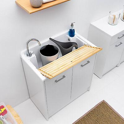 Colavene lavapanni Domestica tela bianco 80X45X86h 2 ante con tavola lavapanni