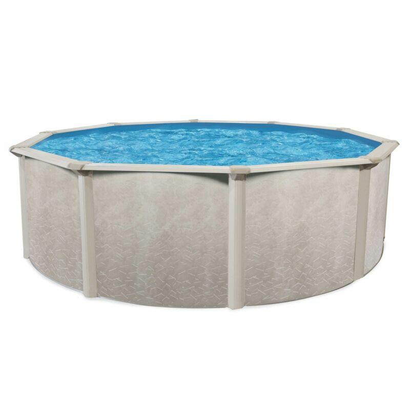 Aquarian Phoenix Series 15 Foot x 52 Inch Steel Frame Above Ground Swimming Pool