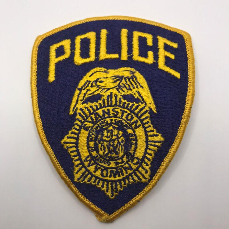 Vintage Evanston Wyoming Police Dept Shoulder Patch