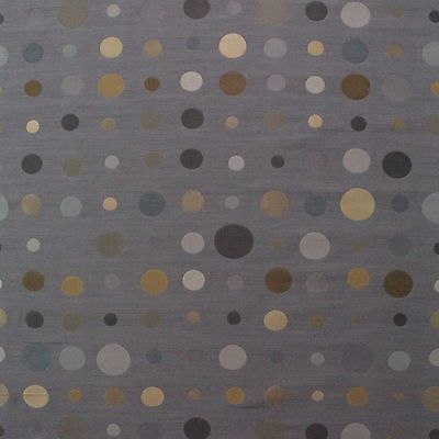 """Used, P KAUFMANN CIRCLE BROWN BLUE GEOMETRIC UPHOLSTERY DRAPERY FABRIC BY YARD 55""""W for sale  Shipping to Nigeria"""