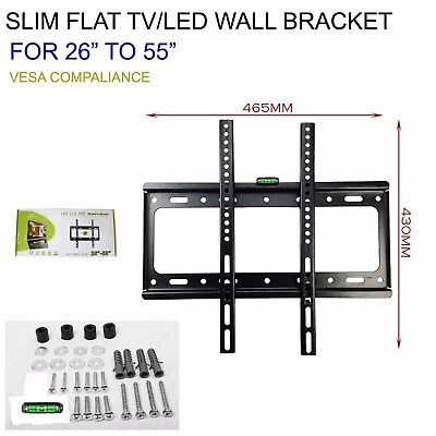 26 TO 55 SLIM FLAT TV LED LCD OLED QLED WALL MOUNT BRACKET FOR 49 50 52 55 INCH