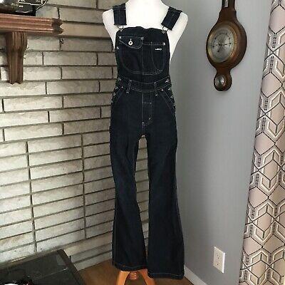Silver Jeans Womens Flare Bib Overalls Blue Jean Medium Wash 90s vintage Jean Bib Overalls