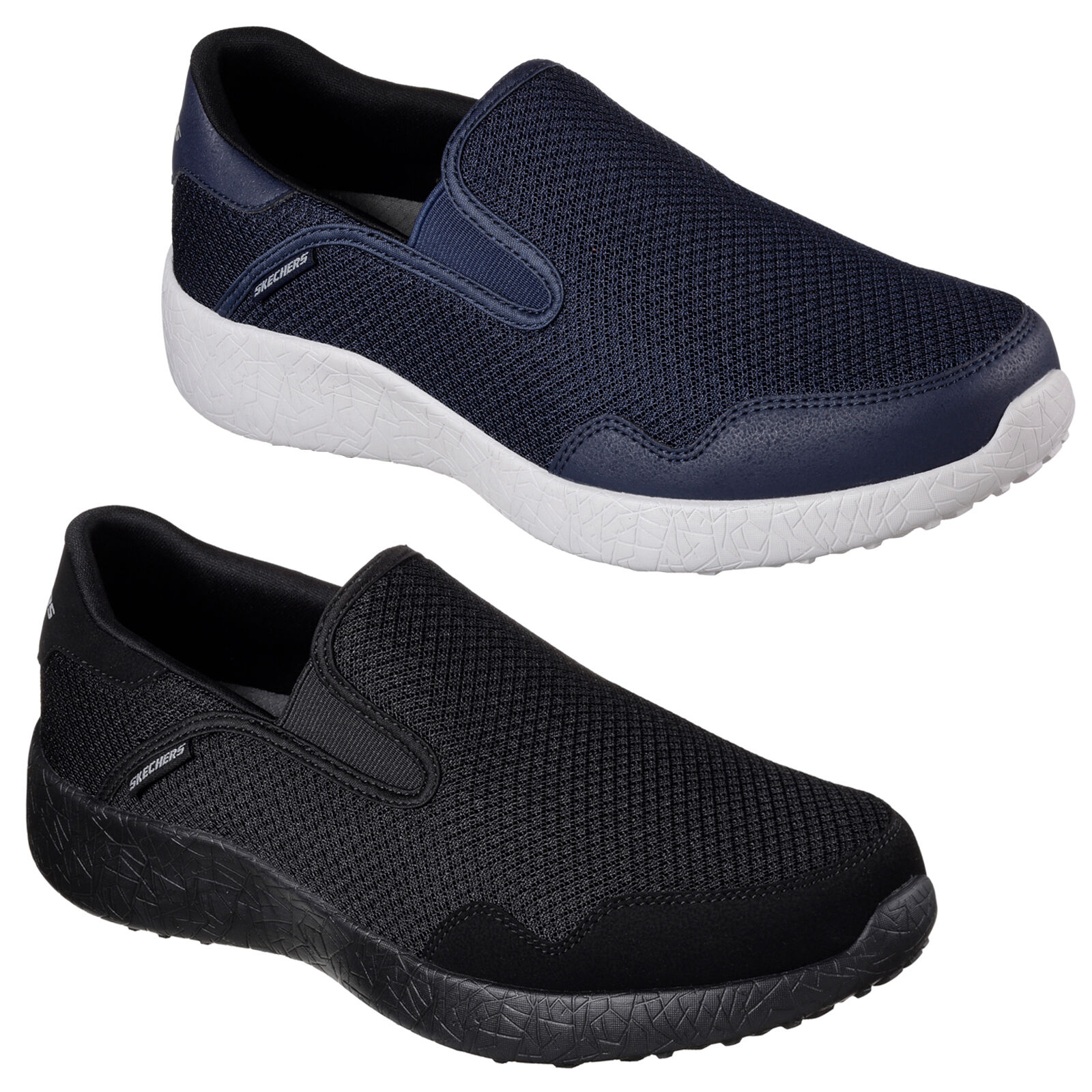 841bf989712d Skechers Burst Just In Time Shoes Mens Go Walk Memory Foam Sports Trainers