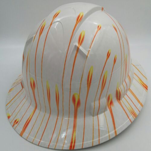 Hard Hat FULL BRIM custom hydro dipped , OSHA approved NEW HORIZONS NEW 3