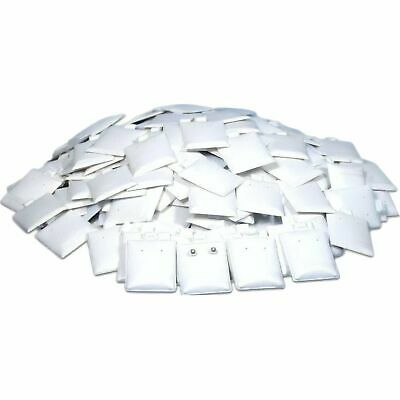 200 White Puff Earring Cards 1 12 X 1 34
