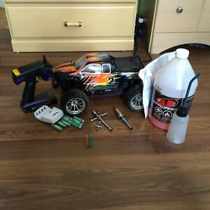 Gas powered remote control car lot