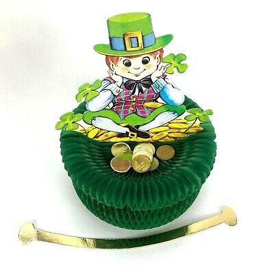 Vtg Beistle Leprechaun Honeycomb Centerpiece St. Patricks Day USA Decoration Pat](St Patricks Day Centerpieces)