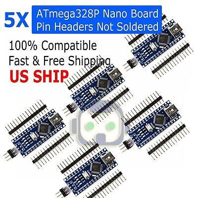 5pcs Arduino Nano V3.0 16m 5v Atmega328p Micro-controller Board Mini Usb Ch340g