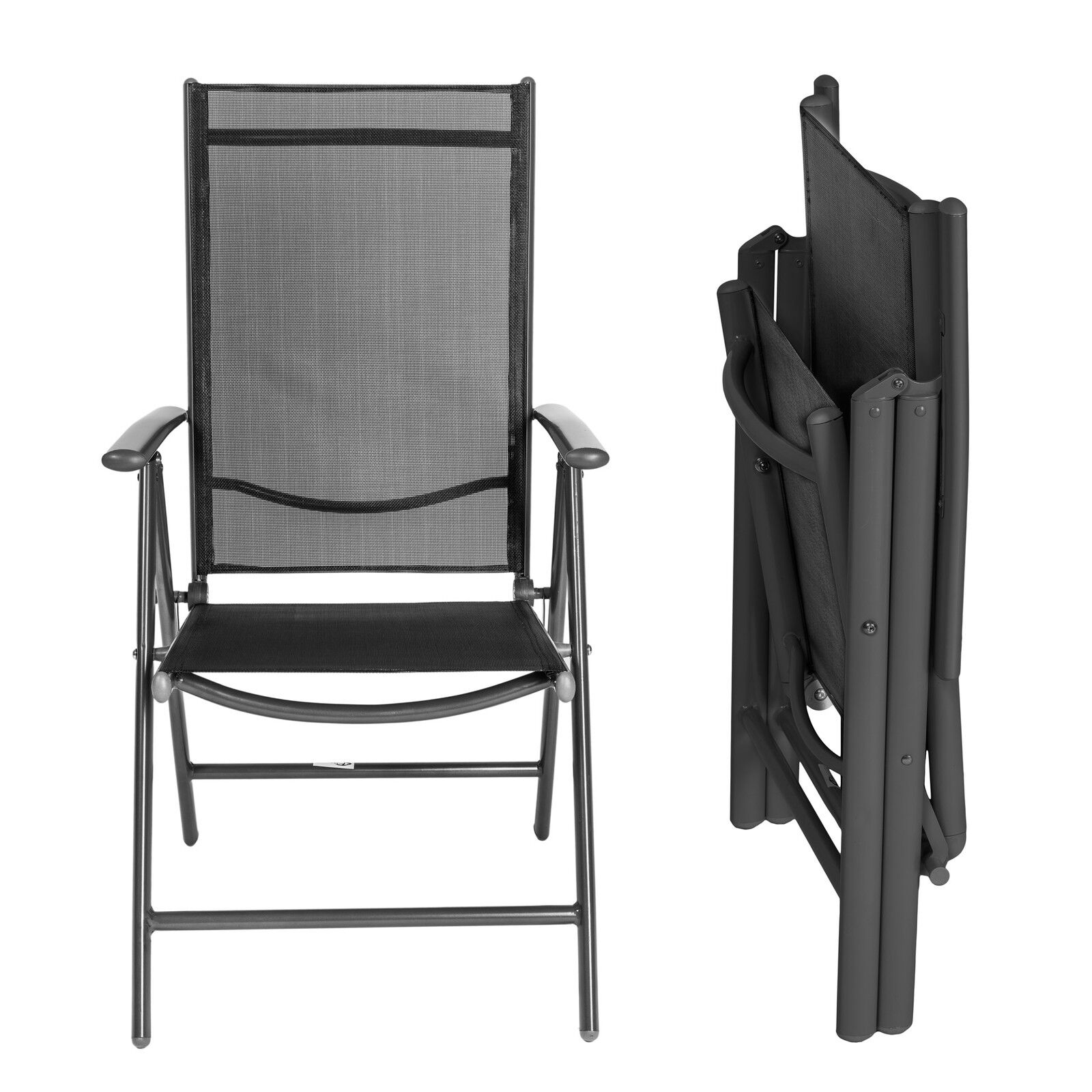 4er set alu klappstuhl gartenstuhl aluminium campingstuhl hochlehner anthrazit eur 104 99. Black Bedroom Furniture Sets. Home Design Ideas