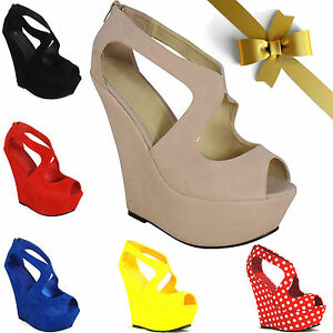 WOMENS-LADIES-WEDGE-HIGH-HEEL-PLATFORM-PEEP-TOE-ANKLE-STRAP-CUT-OUT-WEDGES-SHOES