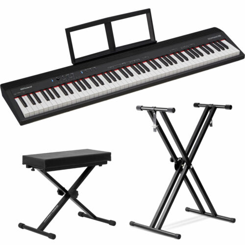 Roland GO:PIANO 88-Key Digital Piano with Front Row Stand an