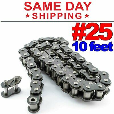 #25 Roller Chain x 10 feet + Free Connecting Links + Same Day Shipping