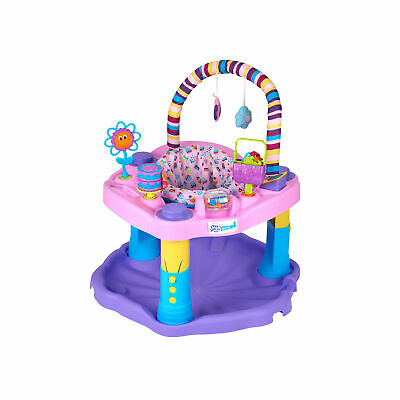 Evenflo ExerSaucer Sweet Tea Baby Bouncer Bouncing Saucer Activity Center, Pink