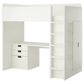 Ikea STUVA Loft bed with desk and shelves