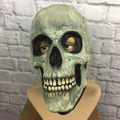 VTG The Paper Magic Group Halloween skull mask rubber latex 1997