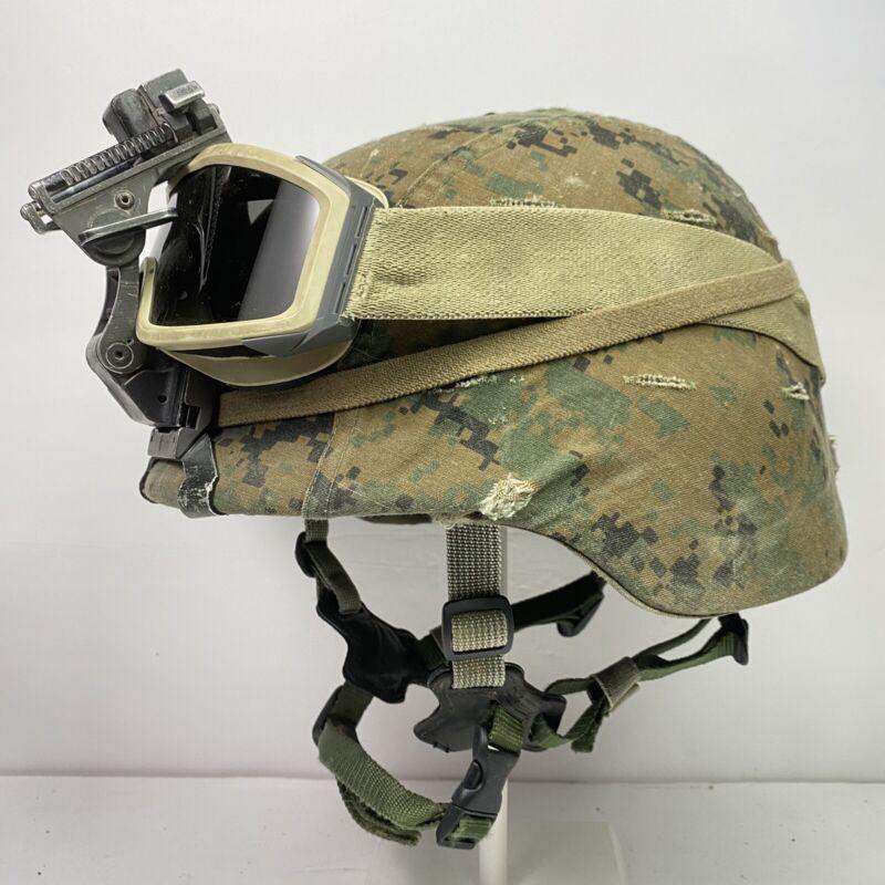 XL Extra Large USMC Marine Corps Lightweight Helmet LWH MARPAT Combat Ballistic
