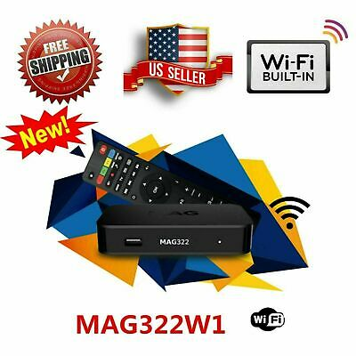 NEW MAG322W1 MAG 322 W1 infomir SET ON TOP BOX built-in wifi update for MAG254