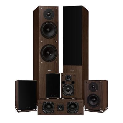 Fluance Elite Series Home Theater 7.0 Speaker System - Walnut