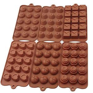 6er Pralinenform Silikon Schokoladenform Hohlkörperform für Muffin Schokolade
