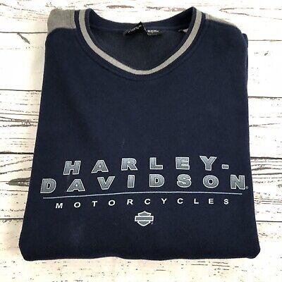 Harley Davidson Mens 3XL Navy Blue Crew Neck Graphic Sweatshirt Navy Blue Crew Sweatshirt