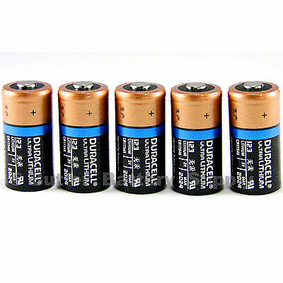 5 X 123 Duracell 3V Lithium Batteries  Cr123  Dl123  Security  Photo