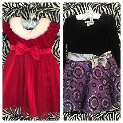 Lot Of Toddler Holiday Girl Dresses 18 Months Jessica Bee Jona Michelle