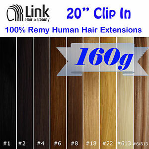 20-CLIP-IN-REMY-HUMAN-HAIR-EXTENSION-Brown-Blonde-Black