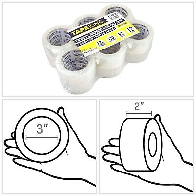 Packing Tape Clear 3.2 mil Super Thick Adhesive 60 Yards Per Roll Commercial New