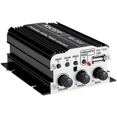 Kinter MA-700 2-Channel Mini Amplifier with Remote USB MP3 F