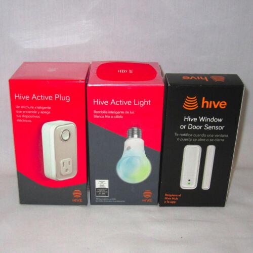 Lot of 3 New HIVE Accessories - Active Plug Active Light Bulb Window/Door Sensor