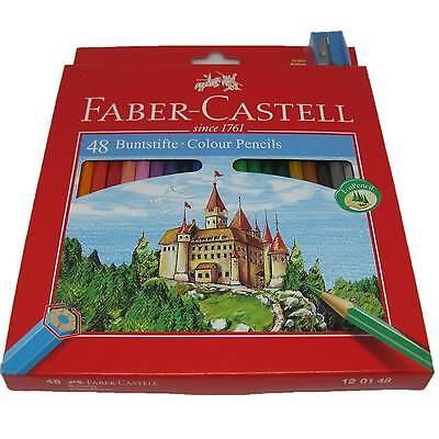 48 Faber Castell Farbstifte Buntstifte Malstifte + Spitzer 48er Buntstift Etui