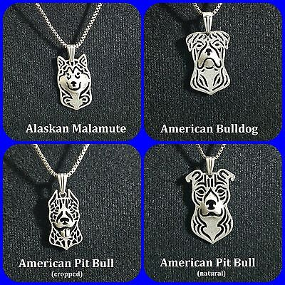 Silver Plated Dog Necklace - 29 Varieties - USA Seller-Fast Shipping w/Tracking (Silver Plated Ship)