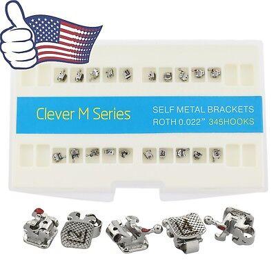 Usa Dental Orthodontic Self Ligating Metal Brackets Interactive Roth 022 345 Gac