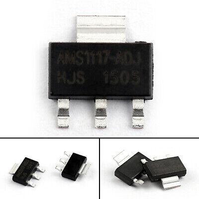 80x Ams1117-adj Ams1117 Lm1117 Adj 1a Sot-223 Smd Voltage Regulator Ic Chip Ua