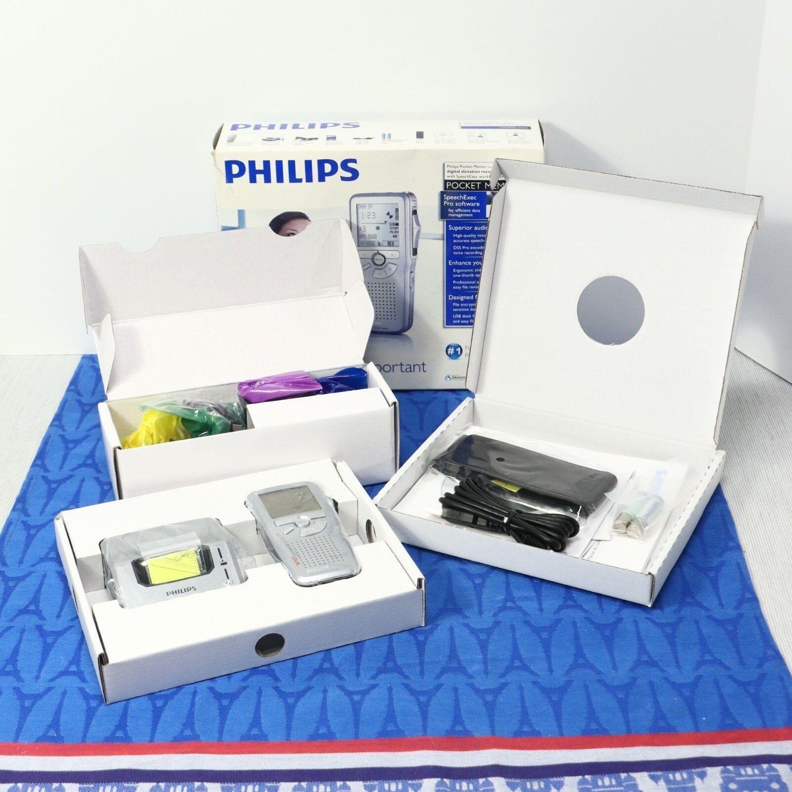 NEW IB! PHILIPS Pocket Memo LFH9600 Digital PRO DICTATION RECORDER w/ SpeechExec