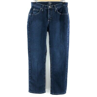 RIDERS by LEE Women's Dark Blue Straight Leg Mid-Rise Stretch Jeans 8P
