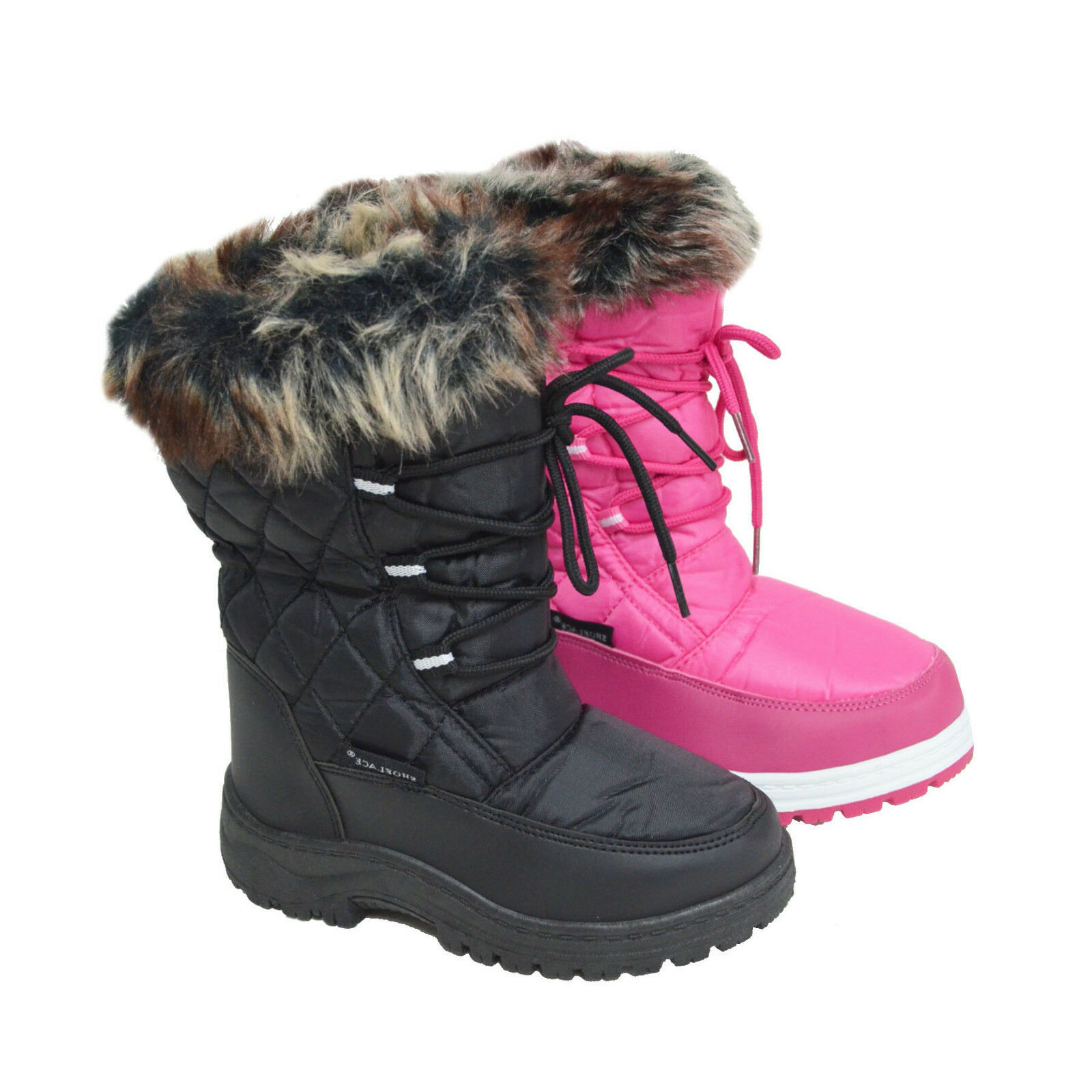 Baby-01 Kid/'s Water Resistant Insulated Winter Snow Boots Fleece Lining Snow