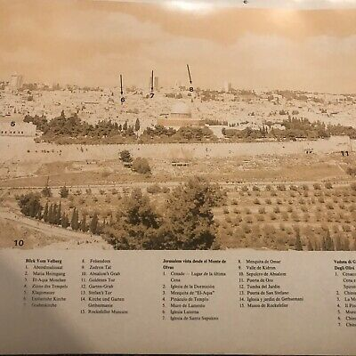 panorama map of jeruslem