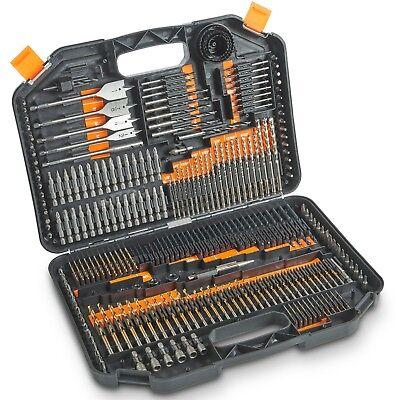 VonHaus 246-Piece Drill and Drive Set Titanium HSS and Chrome Vanadium Bits