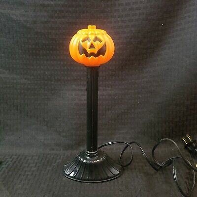 1989 Atico Plastic Blow Mold Light Halloween Jack O Lantern Pumpkin Candle