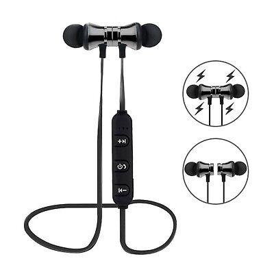 Bluetooth In Ear Kopfhörer X11 Magnetisch Wireless Headset Bass Beats Gunmetal ()