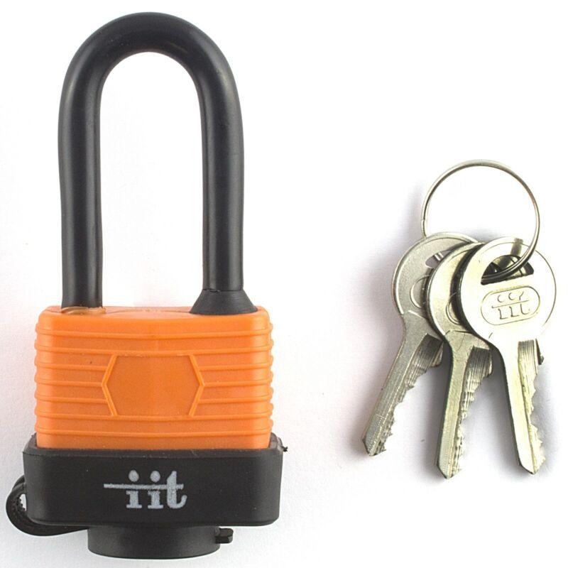 """1.5"""" HEAVY DUTY WATERPROOF PADLOCK w/ LONG SHANK Key Tumbler Steel Lock Weather"""