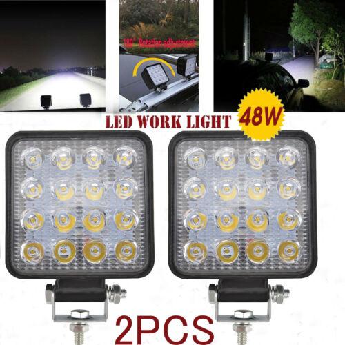 Car Parts - 2X 48W LED Work Light Bar Flood Spot Lights Driving Lamp Offroad Car Truck SUV