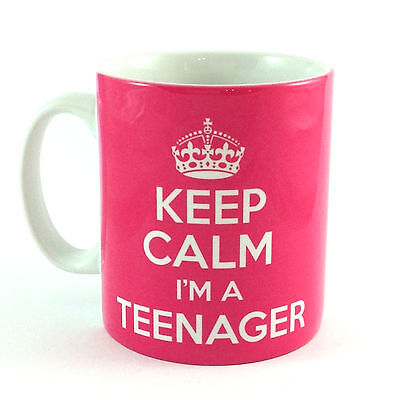 NEW KEEP CALM I'M A TEENAGER GIFT MUG CUP PRESENT 13TH BIRTHDAY IDEA TEEN  - 13th Birthday Ideas