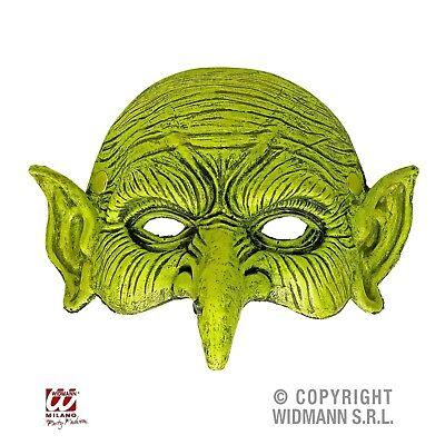 Kinnlose Hexenmaske Schaum-Latex-Maske Hexe Zwerg Erwachsene Halloween Karneval ()