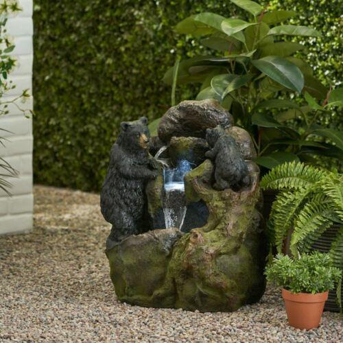 Tyrion 2-Tier Bear Fountain Home & Garden