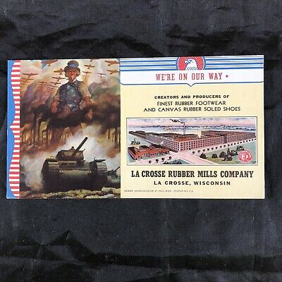 Vintage Uncle Sam WW2 Era LaCrosse Rubber Mills Advertisement Ink Blotter