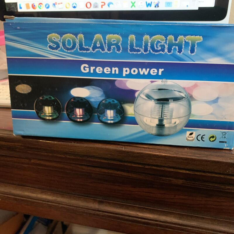 2-Pack Solar Powered Floating/hanging Swimming Pool, Garden Pond LED Ball lights